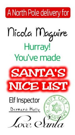 10 Large Red Nice List Christmas Gift Sticker